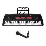 Teclado Musical Con 54 Teclas Y Micrófono Kaiser Mtc-5470