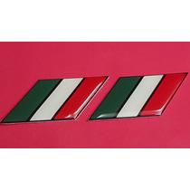 Emblema Bandera Italia Plástico Adherible