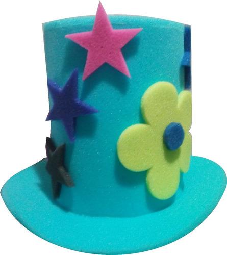 30 Sombreros Espuma Boda Fiesta Lentes Dj Xv Peluca Sombrero eb92a36f3c1
