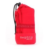 Toalla De Microfibra - Begônia - 80cm X 130cm Roja