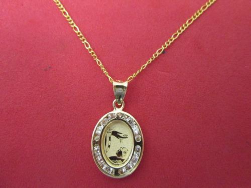dedd2a3b5f62 Cadena Y Medalla Bautizo Niño Oro Solido 10 Kilates.  1681 bQsEr ...