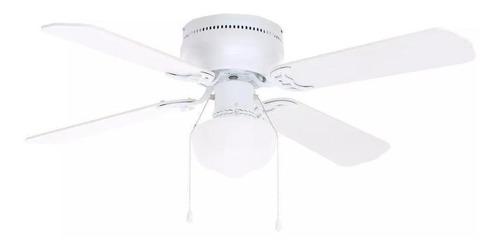 Ventilador De Techo Littleton 112044 Blanco Con 4 Aspas Color Roble Blanqueado De Mdf, 106.68cm De Diámetro 120v