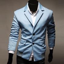 Saco Blazer Hombre Casual Moda Juvenil Slim Fit Hipster Cool