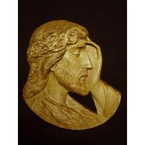 Rostro De Cristo Finamente Tallado En Madera - Jesucristo