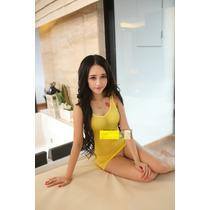 Baby Doll (mini Vestido) Amarillo (talla M) Transparente-sex