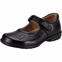 Zapatos Elefante T/piel 5840 Negro Niña Pv