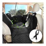 Funda, Cubierta De Asiento Para Perro Mascotas De Vehiculo Con Malla De Aire, Con Almacenamiento, Antideslizante Lavable