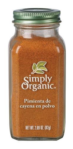 Simply Organic Pimienta De Cayena En Polvo 82 Gr