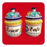 Set Azucarera Y Café De Talavera Poblana 360gr Color M4 Zcr