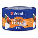 50 Dvd Imprimible Verbatim 4.7 Gb 16x Neto Facturado Full