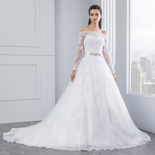 874f3fec1c Vestido Novia De Princesa Encaje Cinto Pedreria Ivory Blanco en ...