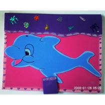 Libreta Decorada Tamaño Profesional. (delfín) Manualidad
