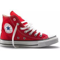 Tenis Converse All Star Ox Lona Rojo Bota