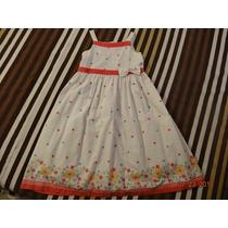 Vestido Infantil Talla 10 N Color Blanco/rojo Buen Estado