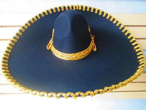 Sombrero Charro Negro Plata Hueso Oro Adulto Mariachi en venta en ... ea0688f3f4a