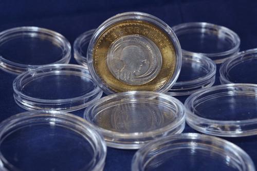 20 Cápsulas 32 Mm Para Monedas ·  Plástico Cristal