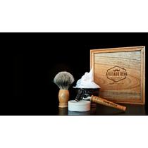Kit Completo De Afeitar/rasurar Tradicional Barbero En Casa