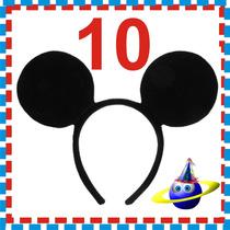 10 Orejas Ratón Diadema Fiesta Xv Boda Dj Batucada Mickey