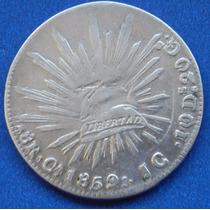 Moneda México 8 Reales Chihuahua 1859 Jg Excelente Estado
