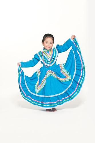Vestido Jalisco Regional Típico Niña Traje Disfraz Envío Inc