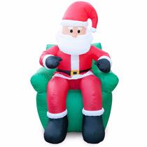 Inflable Navidad Santa Claus Sentado En Sillon Decoracion