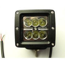 Faro Barra 6leds Cree 18w Para Jeep Rzr Moto Can Am 4x4