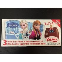 2 Cajas (6) Huevos Disney Pixar Frozen Sorpresa De Chocolate