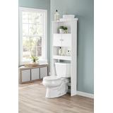 Mueble Ahorrador De Espacio En Baño Puerta Abatible Blanco