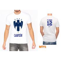 Playera Fútbol Monerrey Campeón Personalizada Mty1