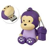 Aneew Pendrive 16gb Purple Animal Monkey Unidad Flash Usb Me