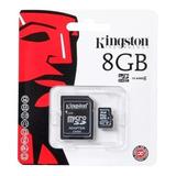Memoria Micro Sd 8g Hc Adaptador Sdc4 Kingston Nueva