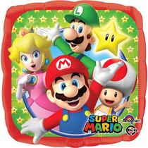 Globo Mario Bros Paq 10 Pzas 9 Pulgadas Para Centro De Mesa