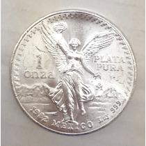 Aaaa Moneda Angel Libertad Mexico 1982 Onza Plata Ms 31g Ml1