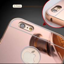 Bumper Lujo Mirror Espejo Aluminio Iphone 6 Y 6 Plus + Mica