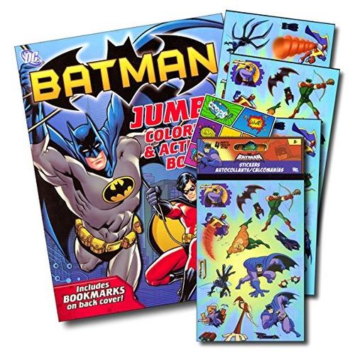 Liga De La Justicia Para Colorear Batman Libro Bundle Con Ba