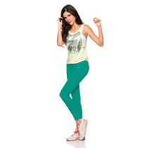 Leggin Supplex Basico Talla Unica Bakano 19 Verde Jade 946