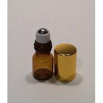 2 Ml De Vidrio Ámbar Roll On Botella Con Acero Inoxidable Ro