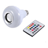 Foco Led Multicolor Bocina Bluetooth Control Remoto Rgb