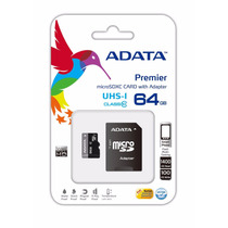 Memoria Micro Sd Xc Adata 64gb Uhs-i Clase 10 Ultra Rapida