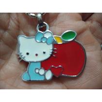 Hello Kitty Precioso Dije Acero Inoxidable Con Cadena 0223