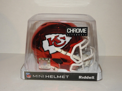 cff2d6dbc9996 Mini Casco Cromado Riddell Kansas City Chiefs Ed. Limitada