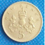 5 Penc 1980 Reino Unido Inglaterra Escocia Gales Irlanda Hm4