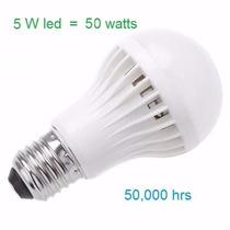 Foco Led 5 Watts = 50 Watts Incandescente Luz Blanca Nuevo