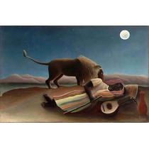 Lienzo Tela Gitano Durmiente Henri Rousseau 1897 50x77 Arte