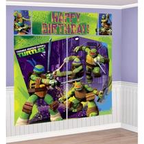 Fiesta De Tortugas Ninja Mural Poster P/ Decorar Paredes