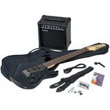 Paquete Guitarra Eléctrica Yamaha Gigmaker Negr Erg121gpiibl