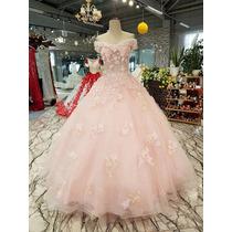 Busca Elegante Vestido De Xv Anos Bordado En Pedreria Con