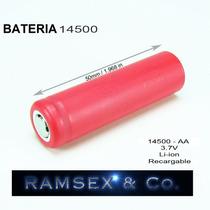 Nij Bateria Pila 14500 3.7v 3800m Ah Recargable Litio C/ Mas