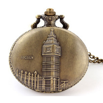 Reloj Bolsillo Collar Londres Big Ben Vintage Mecanico