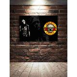 Guns N´roses Cuadro Decorativo Poster Axl Slash   No Canvas
